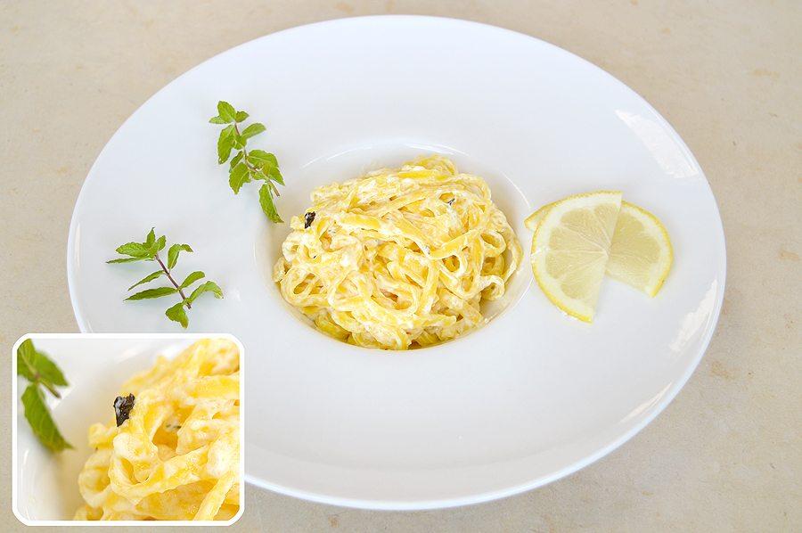 Corso di Cuoco  Tagliolini al limone e menta